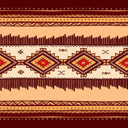 Naadloze abstracte handgetekende etno patroon, tribale achtergrond. Naadloos patroon kan worden gebruikt voor behang, webpagina achtergrond, others.Vintage vector tribale structuur.