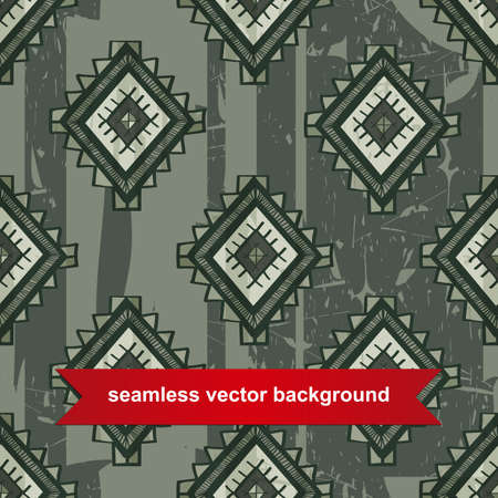 Seamless vector tribal background. Vector illustration. Seamless ethno texture look like carpet. Modern mexican motif. Can be used for textile, printing, web site background, scrapbooking and others. Vector