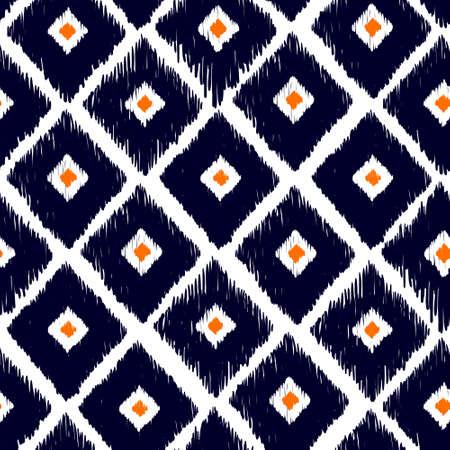 Tribal vector naadloze patroon. Hand getrokken abstracte achtergrond. Geïsoleerd op witte achtergrond. Stock Illustratie