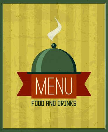 cafe bistro: Vintage menu design template for your restaurant, cafe, bistro, bar etc. Vector illustration.