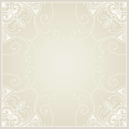 Abstract background with geometric ornamental frame. Floral frame design can be used for wedding cards and invitations, web site design, printing and other cases. Vector