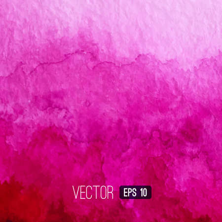 Vector pink watercolour background. Watercolor texture. Decoration design element. Textured backdrop. Square banner. Hand drawn design element. Vector