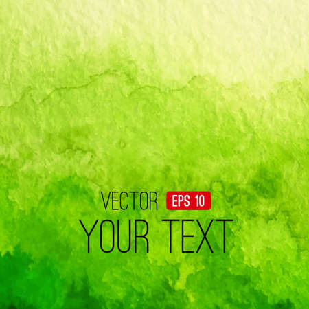 green light: Vector hand drawn watercolor background for you eco design. Bright vector illustration. Abstract design. Watercolor backdrop can be used for web page background, identity style, printing, etc. Illustration