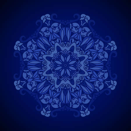 royal blue background: Vector ornamental background. Royal blue texture. Ethnic design template.