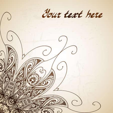 Vintage vector circle floral ornamental border. Lace pattern design. White vintage ornament on blue background. Vector ornamental border frame. Can be used for banner, web design, wedding cards. Banco de Imagens - 27325561