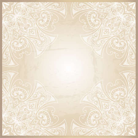 Abstract background with geometric ornamental frame. Floral frame design can be used for wedding cards and invitations, web site design, printing and other cases.