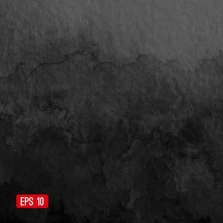 Vecteur aquarelle abstraite. Fond noir et blanc. Modèle de conception avec la place pour votre texte. Aquarelle contexte peut être utilisé pour fond de page web, le style de l'identité, l'impression, etc