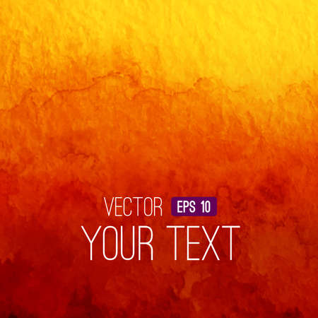 Vector abstract watercolor backgroun. Orange background. Design template with place for your text. Watercolor backdrop can be used for web page background, identity style, printing, etc. Ilustração