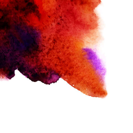 be the identity: Vector abstract watercolor background. Orange background. Design template with place for your text. Watercolor backdrop can be used for web page background, identity style, printing, etc.