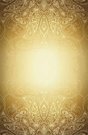 ビンテージ ベクトル パターン。手描き抽象画の背景。装飾的なレトロなバナー。バナー、招待状、結婚式のカード、スクラップ ブックを使用でき  イラスト・ベクター素材