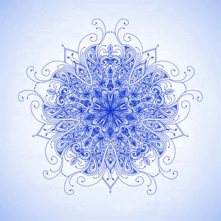 Abstract circle floral ornamental border  Lace pattern design  Hand drawn decorative background  Ornamental border frame  Can be used for banner, web design, wedding cards etc  JPG photo