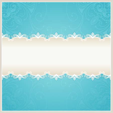 Bloemen bruiloft achtergrond. Blauw ontwerp sjabloon kan worden gebruikt voor banners, kaarten en andere. Trouwkaart met tekst gebied. Blauwe achtergrond kan worden gebruikt voor banners, teken, certificaat Stockfoto