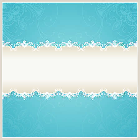 Floral wedding background. Blue design template can be used for banners, cards and others. Wedding card with text area. Blue background can be used for banners, sign, certificate photo