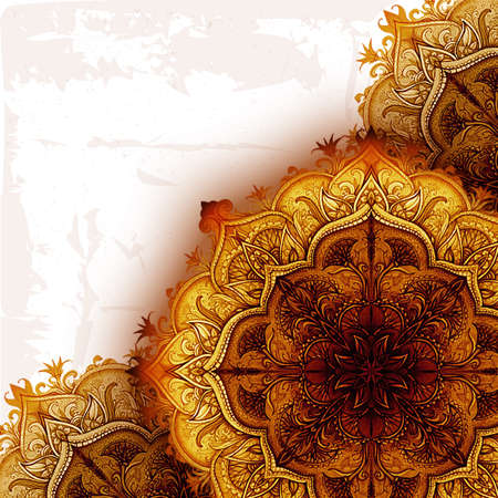 indian art: Vintage background  Hand drawn abstract background  Decorative retro banner  Can be used for banner, invitation, wedding card, scrapbooking and others JP