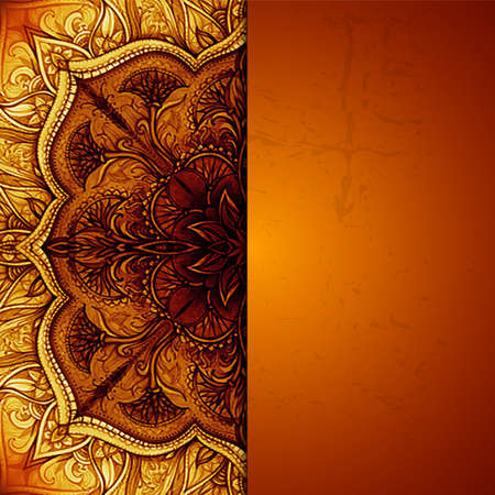 Vintage background  Hand drawn abstract background  Decorative retro banner  Can be used for banner, invitation, wedding card, scrapbooking and others JPG Banco de Imagens