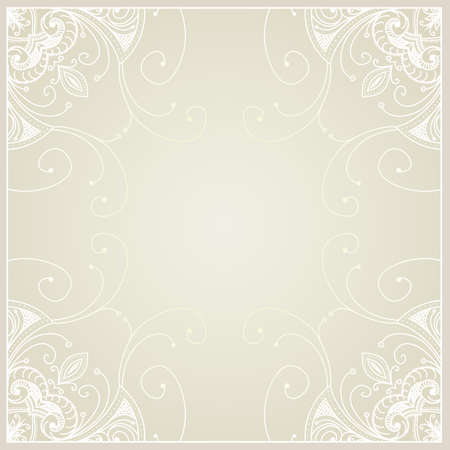 Abstract with geometric ornamental frame  Floral frame design can be used for wedding cards and invitations, web site design, printing and other cases  photo