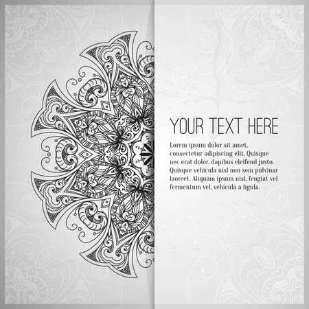 royal wedding: Vintage vector pattern. Hand drawn abstract background. Retro banner. Can be used as book cover, invitation, wedding card. Abstract floral border. Lace pattern. Royal design element. Silver texture.