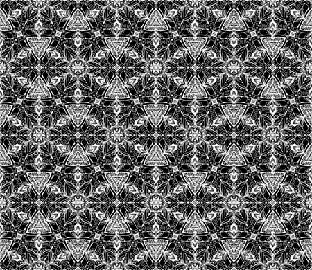 ruche: Abstract vector geometric background from flowers. Floral seamless geometric pattern. White backdrop with grey ornament. Decorative design element. White and gray hand drawn texture.