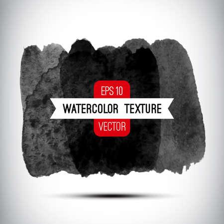 Vector abstracte aquarel achtergrond. Zwarte en witte achtergrond. Ontwerp sjabloon met plaats voor uw tekst. Aquarel textuur kan worden gebruikt voor de uitnodiging, menu, kaart, identiteit stijl, drukwerk, etc.