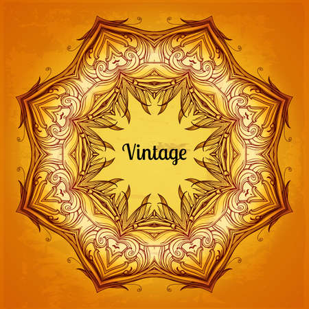 Abstract vintage frame. Vector