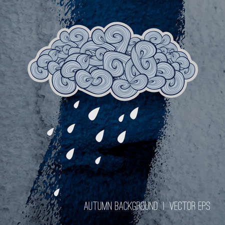 rainy days: Rainy day  Autumn season design. Illustration