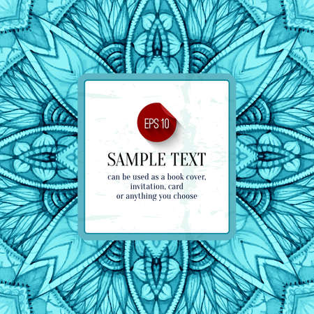 Abstract floral vector background, vector banner, frame, border with place for your text, vector illustration.