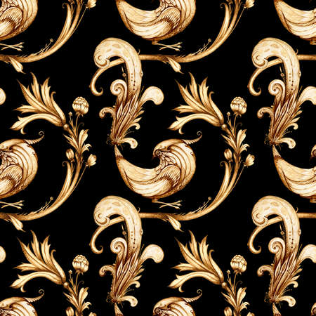 Vintage pattern wallpaper - Birds and Flowers. Vintage image. Seamless pattern. photo
