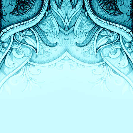 Islam, indian, ottoman, moroccan, arabic motifs. Vector wedding invitation. Floral vector background. Card or invitation. Vintage decorative elements.