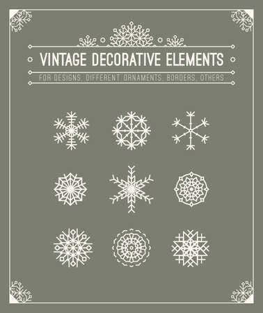 Vintage decorative elements. Floral ornamental patterns. Retro style insignias. Calligraphic frame. Graphic design template for  badge, placeholder, banner, poster.