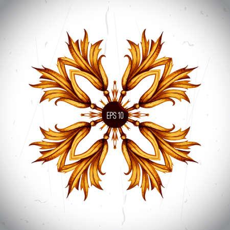 scroll work: Floral monnogram frame for wedding invitations, greeting cards. Pattern element. Vector vintage baroque pattern in engraving retro style on scroll work background. Ornate acanthus design frame. Illustration