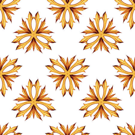 victorian wallpaper: Seamless vector background. Ancient ornament. Victorian style design elements isolated on white background. Vector illustration for banner, wallpaper, textile, texture and others. Illustration