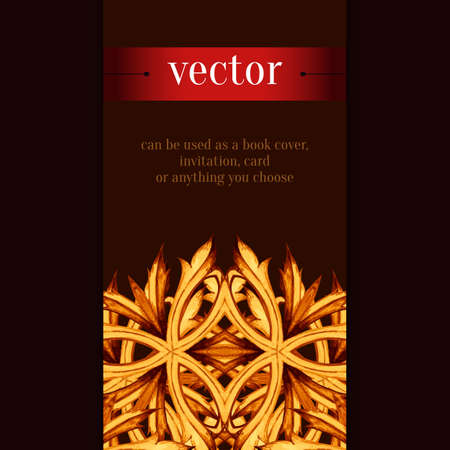 art and craft: Baroque ornament. Baroque frame, Retro Vintage Vector background. Vector abstract  horizontal background. Vintage flayer. Decorative Art, Craft, Poster and Print.
