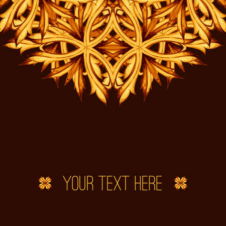 art and craft: Ornamental pattern. Invitation card. Baroque ornament. Baroque frame, Retro Vintage Vector background. Vector abstract horizontal, background. Vintage card. Decorative Art, Craft, Poster and Print.