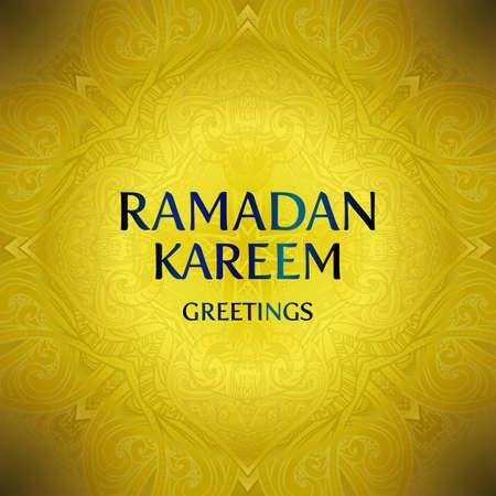 Ramadan Kareem greeting card background. Vector illustration.
