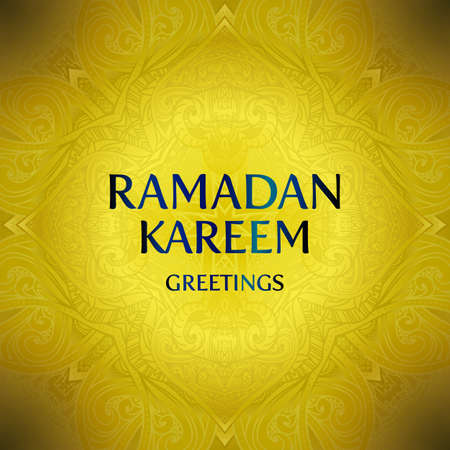 greeting card background: Ramadan Kareem greeting card background. Vector illustration.