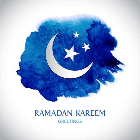 Moderno vector fondo de la tarjeta de felicitación de Ramadan Kareem.
