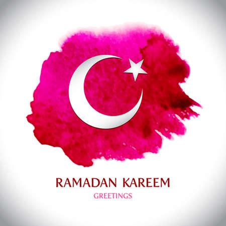 turkish: Beautiful modern Ramadan Kareem greeting card. Vector illustration.