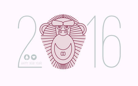 chineese: 2016 calendar for chineese horoscope new year of monkey. Chinese new year lettering 2016. 2016 wording.