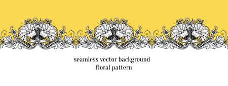 floral border: Seamless floral border. Illustration