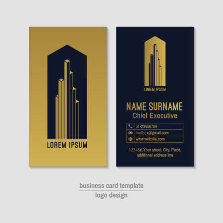 business card design: Abstract vertical vector business card design template. Illustration