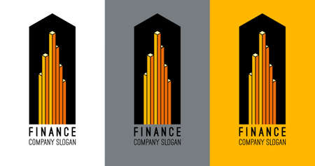 accounting logo: Logo design for accounting company. Illustration