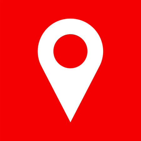 map pin: Vector map pin icon.