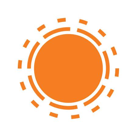 Sun icono aislado en el fondo blanco, Vector icono de sol. icono del sol para web e impresión. icono del sol para los diseños de verano. icono del sol de logotipos, folleto, cartel. símbolo del sol minimalista. simple del vector.