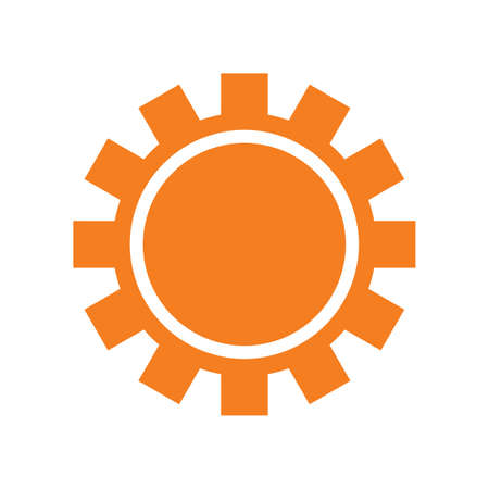 Sun icon isolated on white background, Vector sun icon. Sun icon for web and print. Sun icon for summer designs. Sun icon for logotypes, flyer, poster. Minimalistic sun symbol. Simple vector.
