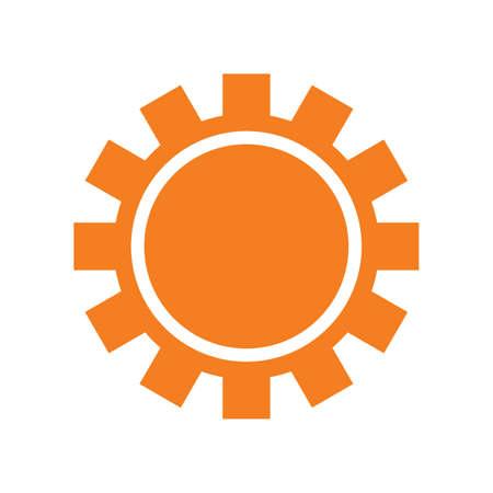 Sun-Symbol auf weißem Hintergrund, Vector sun Symbol isoliert. Sun-Symbol für Web und Print. Sun-Symbol für den Sommer-Designs. Sun Symbol für Logos, Flyer, Plakat. Minimalistic Sonnensymbol. Einfache Vektor.