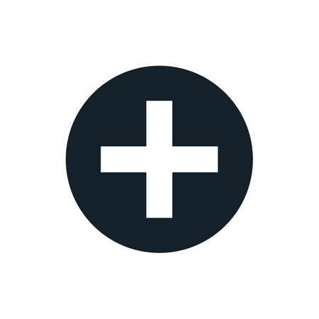 addition: Black and white vector plus sign, plus size icon, plus logo, plus symbol design element. Addition button simple vector for web app, website design, logo, medical business brand identity. Simple icon.