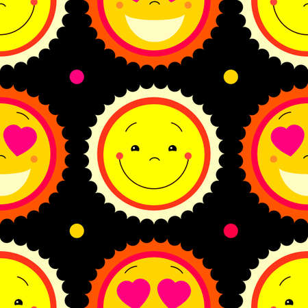 sweat: Vector modern yellow smiling from ear to ear fun happy sun sign. Smile sweat cute kids sun sun symbol for kid design, children design, kid logo, children logo, kids summer camp decoration. Clipart.