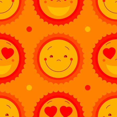 kiddish: Vector modern yellow smiling from ear to ear fun happy sun sign. Smile sweat cute kids sun sun symbol for kid design, children design, kid logo, children logo, kids summer camp decoration. Clipart.