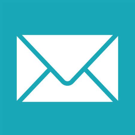 envelope icon: Vector white envelope icon. Envelope icon image for print, web. Envelope icon for apps. Vector graphic envelope design element. Envelope icon isolated on white background. Clipart. Illustration