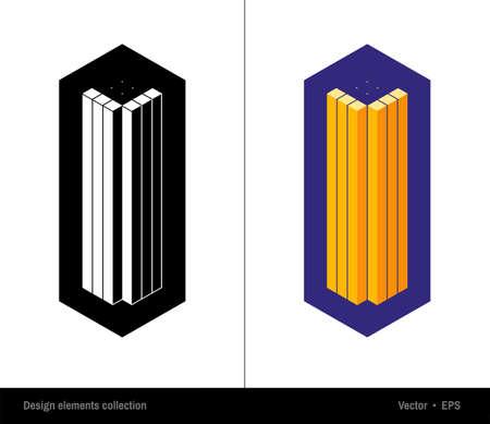 companionship: Abstract vector hexagonal logo design template. Emblem, sign,symbol for your business. Modern graphic design element. Hexagon, cube design element. Illustration